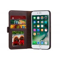 Buy cheap IPhone 7 Leather Folio Cover With Luxury Business , Cell Phone Wallet Case Coffee from wholesalers