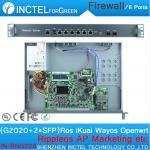 Buy cheap Internet router ROS 8 Gigabit flow control utm firewall with G2020 CPU Intel 1000M 6 82583V 2 Gigabit 82580DB fiber H67 from wholesalers