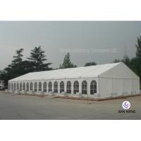 Buy cheap 600 ~ 1000 Person Aluminum Frame Tent , White PVC Event Tent With Double Wing Glass Door from wholesalers