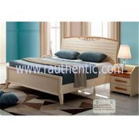 Buy cheap Adults Low Headboard Light Wood Queen Beds , Full Size Wooden Bed Frame With Headboard from wholesalers