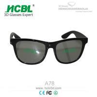 Fashion Folding Real D MI Circular Polarized 3D Glasses / Plastic 3D Eyewear Glasses