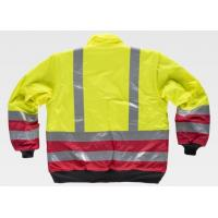 Buy cheap Lightweight Hi Vis Winter Work Jackets , Outdoor Reflective Work Coat Breathable from wholesalers