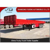 Buy cheap Flatbed type side wall semi trailer and Container truck trailer for sale from wholesalers