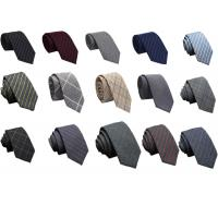 Buy cheap Mens Casual striped Wool Neckties colorful OEM logo China factory cheap price from wholesalers