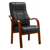 Buy cheap Padded Office Conference Chairs , Luxury Leather Office Chair With Wood Arms from wholesalers