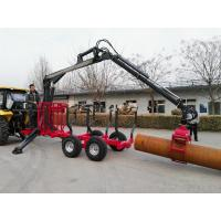 Buy cheap China supply log/sugar cane loading trailer with grapple/hydraulic crane from wholesalers
