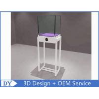 Buy cheap Simple White Wood Metal Glass Jewelry Display Case / Store Display Showcase product