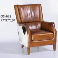 Buy cheap QS-628;  modern genuine leather sofa, club furniture,office furniture, living room furniture, China sofa from wholesalers