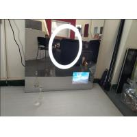 Custom Size Bath Mirror Tv , IP68 Waterproof Dielectric Glass Tv Mirror Scratch Resistance