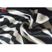 Buy cheap Zebra Printed Velboa Plain Dyed Velour Fabric , Polyester Velvet Fabric For Home Textile from wholesalers