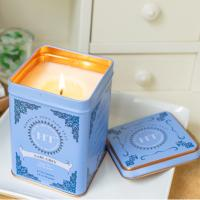 Buy cheap Home Bar Decoration Scented Tin Candles With Metal Lids Hand Painted Glassware product