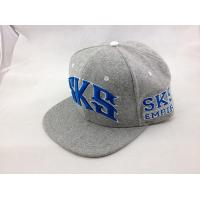 Buy cheap Gray Acrylic Wool Snapback Baseball Caps Hat with 3D Embroidery Letters from wholesalers