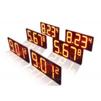 Buy cheap Long Lifespan Red Digital Gas Station Price Signs Led 7 Segment Display from wholesalers