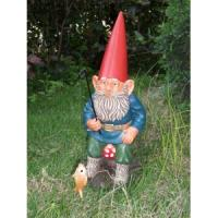 Buy cheap 2012 new fashion resin decorative standing garden gnome mushroom decoration from wholesalers