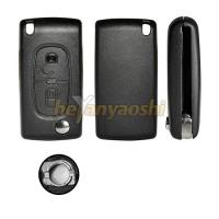 Buy cheap 2 Buttons Flip Key Shell , Lock / Unlock Folding Remote Key Cover Blank for product