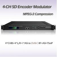 Buy cheap Hotel TV 4*CVBS to DVB-C(QAM) Four-Channel MPEG-2 SD Vidoe Encoder Modulator SD Video to DVB-RF Cable TV Equipment from wholesalers