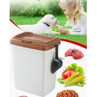 Buy cheap 40L 15kgs 17lbs high quality stocked customized pet food storage container bucket dispenser dog food can box for dog cat from wholesalers