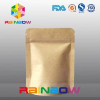 Buy cheap Stand Up Kraft Paper Bags for Candy Packaging with Zipper and Window from wholesalers