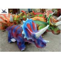 Silica Gel Plush Animal Riding Toys Triceratops Scooters For Children