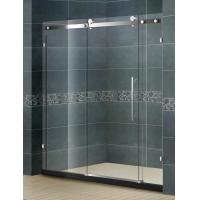 Buy cheap Big Roller Straight Sliding Glass Shower Screen With 10MM Two Irregular Fixed Glass from wholesalers