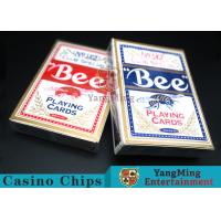 Buy cheap Bee Dedicated Casino Playing Cards With Exquisite Plastic Box Packaging from wholesalers