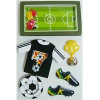 Buy cheap Black Gray Layered Paper Shaker die cut Stickers Football Game Decorative from wholesalers