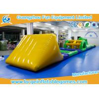 Buy cheap Funny Inflatable Water Park Games / Inflatable Water Obstacle 0.6mm / 0.9mm Thickness from wholesalers