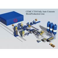 Buy cheap Brick Machinery Plant Concrete Block Making Machine with PLC Control System Fully Automatic from wholesalers