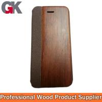 Buy cheap Mobile phone leather cases, Rosewood leather case for Iphone5 from wholesalers