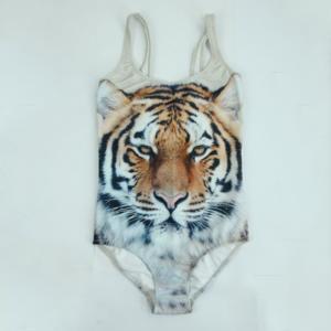 Buy cheap Double Layer Digital Print Sports T Shirts ,  Vivid Tiger Pattern Kids Swimwear product