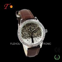 Buy cheap New latest ladies fancy stone tree watches with leather band from wholesalers