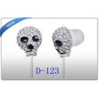 Buy cheap Gothic Skull Earbuds / GOLD Chrome Metal in Ear Headphones for Iphone ,Ipad , MP3 product