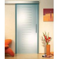 Buy cheap Custom Satin Etched Glass Door With Groove , Tempered Glass For Shower Room from wholesalers