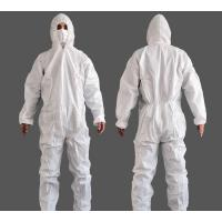 Buy cheap Non Sterile Non Woven Isolation Gown , White Breathable Disposable Coveralls from wholesalers