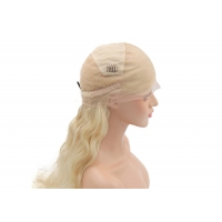 Buy cheap High quality hand-tied 613# color Body wave human full lace front wigs from wholesalers