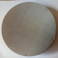 Buy cheap 500 1000 Micron Unrimmed Stainless Steel Filter Disc Round 50mm 75mm Diameter from wholesalers