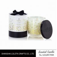 Buy cheap Top Cover Bottle Scented Small Jar Candles Clear Snow Golden Foil Pattern from wholesalers
