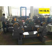 China Simple Operation Vessel Self Aligning Welding Rotator With Width 180mm Pu Wheels on sale
