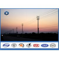 Transmission Line Electrical Power Pole HDG Polygonal Shape 132 KV