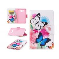 Buy cheap Colorful Butterfly Card Pocket Phone Case , Huawei Phone Wallet Case product