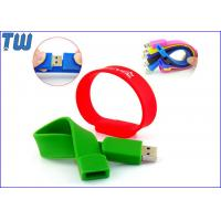 Buy cheap Colorful Easy to Carry Silicon Wristband Thumb Drives 2GB 4GB for Gifts with Logo Printing from wholesalers