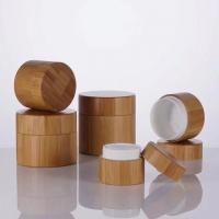 Buy cheap 50g Skin Care Bamboo Cosmetic Packaging / Bamboo Makeup Jar Customized Logo from wholesalers