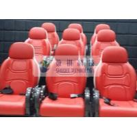 Buy cheap Outside Mobile 6D Movie Theater 3 / 4 Seat Per Set Motion Chairs With Red Color product