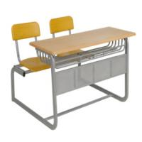 Buy cheap Durable Steel School Furniture Metal Frame Combined Double Student Desk And Chair from wholesalers