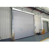 Buy cheap Exterior Interior Insulated Roll up Industrial Security Doors Grey White Panel from wholesalers