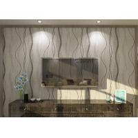 Buy cheap Removable Contemporary Wall Coverings , Modern Nonwoven Striped Wallpaper for Living Room from wholesalers