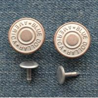 Buy cheap High Quality Logo Brass Jeans Button, Shank Button HF-212-CR from wholesalers