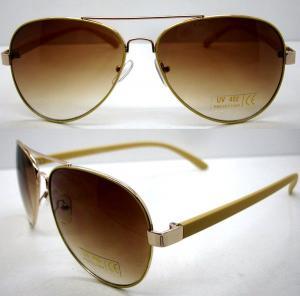 Buy cheap Handmade Round Brown Metal Frame Sunglasses , Men Eye Glasses product