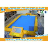Buy cheap Customized 24m X 18m Inflatable Football Field / Soccer Area For Bubble Bumper Ball from wholesalers