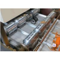 Buy cheap Galvanized Steel Crimping Roofing Sheet Roll Forming Machine With Cutter Blade from wholesalers